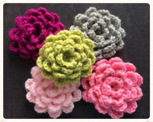 2 x Hand Crochet Granny Squares Patchwork Blanket Appliqué Various colours