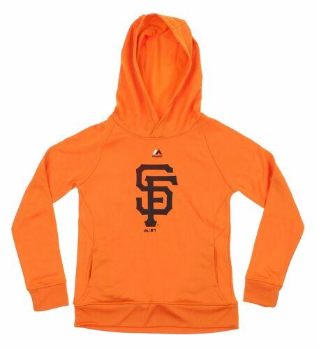 Orange Majestic MLB Youth San Francisco Giants Fleece Performance Hoodie