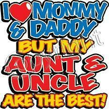 I Love Mommy /& Daddy But My Aunt /& Uncle Are Best Kids Sweatshirt 6-8 To 14-16