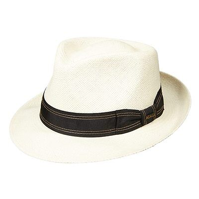 """2 Color Choices Same Day Shipping Scala Authentic Panama with 2-5//8/"""" Brim"""