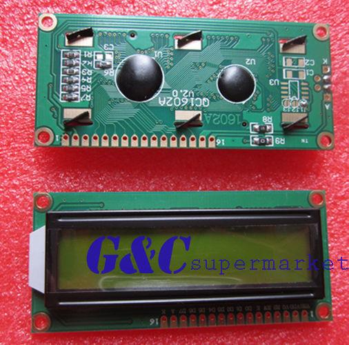 3PCS 1602 16x2 HD44780 Character LCD Display Module LCM Yellow backlight