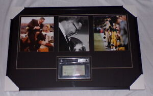 Vince-Lombardi-Signed-Framed-25x38-Photo-amp-1963-Check-Display-BAS-Packers