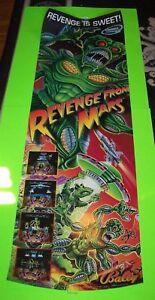 Revenge-From-Mars-Pinball-POSTER-Original-48-X-15-Space-Age-Art-Aliens-Martians