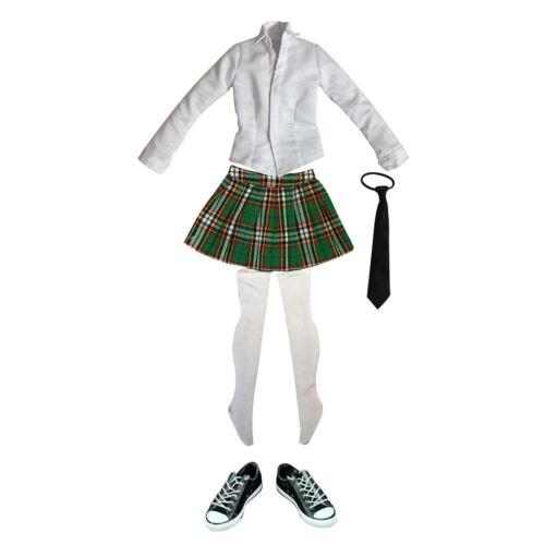"""Uniforme Studentessa Alla Moda Scarpe Di Tela Per 1//6 12 /""""Action Figure"""