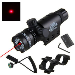 Red-Dot-Laser-Adjusted-Hunting-Sight-Scope-20mm-Picatinny-Mount-4-Rifle-Gun-GIFT