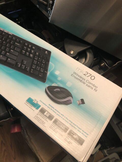 Logitech - MK270 Wireless Keyboard and Mouse - Black