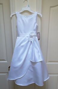 500b2811953 Image is loading Cinderella-Couture-Girl-039-s-Beautiful-Solid-White-