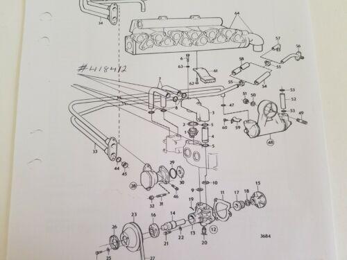 Volvo Penta AQ165 /& AQ170 Thermostat Housing Pipe O-Rings # 418412 Set of 6