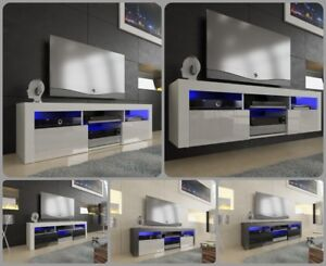 NEW-2018-Superb-TV-Stand-Unit-Cabinet-160cm-Floating-Standing-Gloss-LED