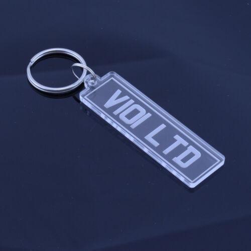 Handgefertigt Laserschnitt Geschenk Personalisiert Nummernschild Schlüsselring