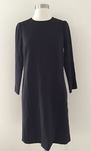 ab5040fd339 Image is loading JCREW-Dress-e5532-Overlapped-Long-Sleeve-Shift-Dress-