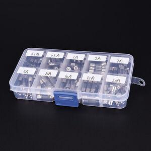 100 Pcs Quick Blow Glass Assorted Fuse Amp0.2A 0.5A 1A 2A 3A 5A 8A 10A 15A 20AHK