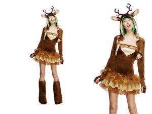 Reno Disfraz Mujer Fiesta Navidad Traje Tallas 8 18 Ebay - Disfraz-reno