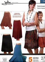 Jalie Gored Knit Skirts Sewing Pattern 5 Styles 2681 Women & Girls 27 Sizes Craft Supplies