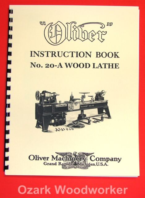 159M Metal Spinning Lathe Owner/'s and Parts Manual 1077 OLIVER No