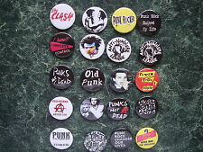 PUNK COLLECTION 20 BADGES SET 3 1INCH / 25MM POSTER   FANCY DRESS Oi ROCKERS