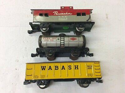 Ehrlich Marx 3 St Blechwagons Nyc / Wabash Spur 0 Fur Modelbahn