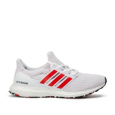 Cheap Men's Adidas Ultra Boost 4.0 Red Stripes Sports Shoes