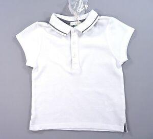 Tee-shirt-polo-manches-courtes-blanc-Du-Pareil-Au-Meme-DPAM-6-mois-garcon