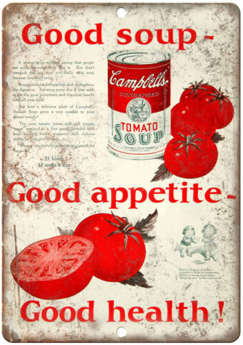 """Campbell/'s Condensed Tomato Soup Vintage  10/"""" X 7/"""" Reproduction Metal Sign N336"""