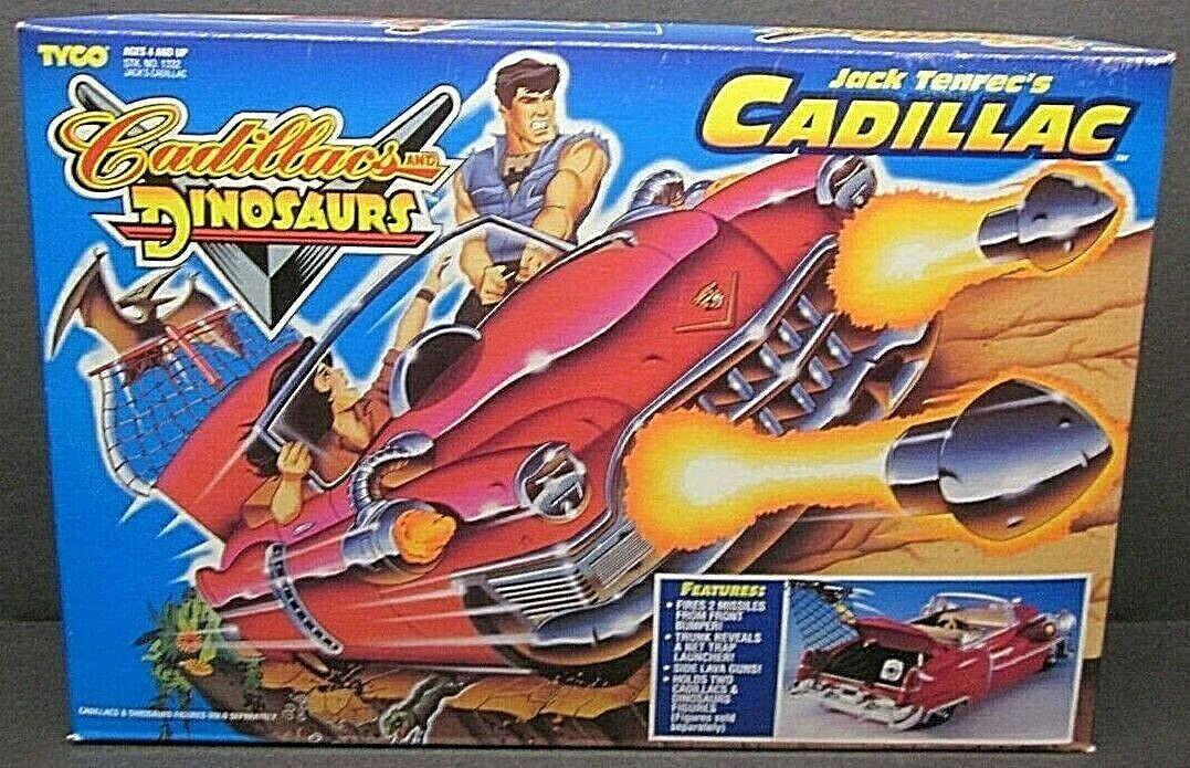 1993 TYCO Cadillac s e Dinosauri Jack Tennec's Cadillac auto 1332 NUOVO scatola