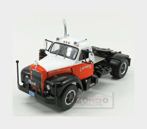Mack B61 Tractor Truck 2-Assi Laporte 1953 Orange White Black IXO 1:43 TR053 Mod