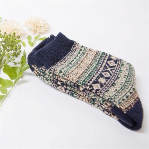 Hommes Coton Rétro Chaussettes Hiver Thermique Laine Tricotée Épaisse Crochet C
