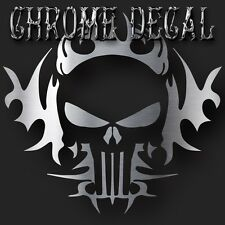 Punisher Silver Chrome Vinyl Die Cut Decal Sticker Car Truck 6""