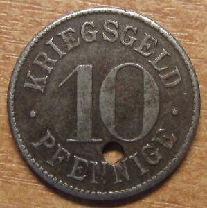 Germany-Notgeld-Token-Heidelberg-10-pfennig-1918