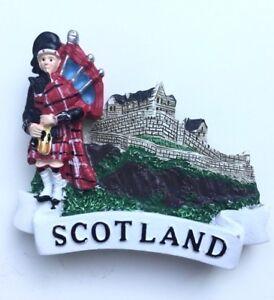 Scotland-Fridge-Magnet-Piper-Thistle-Souvenir-Great-Gift-From-Scotland