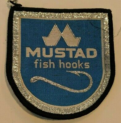 LIMITED Unused OLYMPIC FISHING TACKLE Vintage Fishing Embroidery Patch Badge