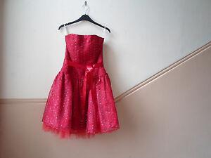 """Royaume-uni Taille 8 Buste 32"""" Jessica Mc Clintock Pour Gunne Sax Fraise Sequin Robe-afficher Le Titre D'origine Doux Et AntidéRapant"""