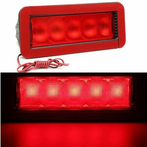 Universel-Rouge-5-LED-12V-Feux-Arriere-Stop-Frein-Troisieme-3eme-Support-Auto