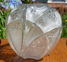 ART DECO 30's Phoenix Consolidated FRENCH CRYSTAL 700 Line MARTELE Vintage Vase