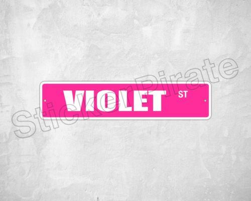 "*Aluminum* Violet 4/"" x 18/"" Metal Novelty Street Sign  SS 3640"
