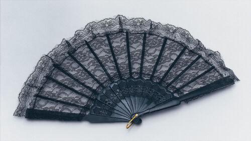 mariage motif floral noir et blanc Espagnol dentelle main fan dance