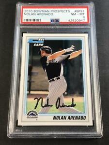NOLAN-ARENADO-2010-BOWMAN-PROSPECTS-BP91-ROOKIE-RC-NM-MINT-PSA-8-ROCKIES-MLB