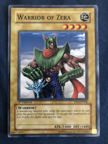 Warrior Of Zera Yugioh Card Genuine Yu-Gi-Oh Trading Card