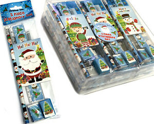 1-6-12-24-Set-Cancelleria-Natale-Regalo-Insegnante-Fair-Party-Bag-calza-Filler