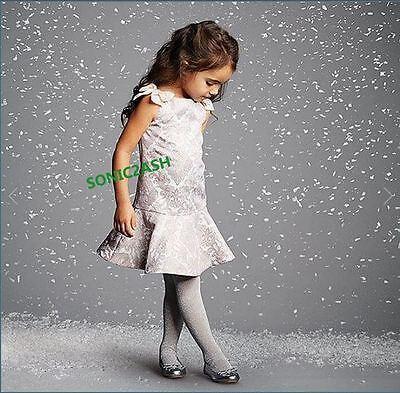 NWT Janie /& Jack PRIMA BALLERINA 2T 3 4 5 2 Metallic Jacquard Dress Pink Grey