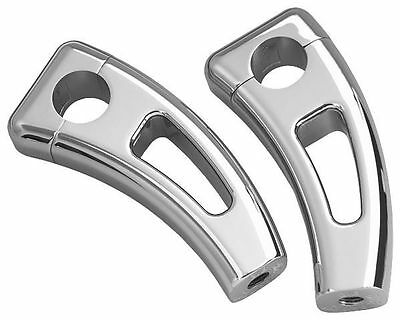 Show Chrome Square Cast Handlebar Risers 55-135* Square Cast W/ Cutout 41-7711