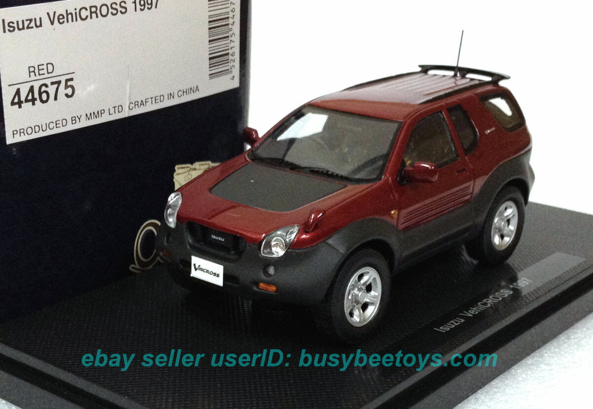 1 43 EBBRO 44675 ISUZU VEHICROSS V-CROSS 1997 RED resin model car