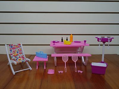Gloria,Barbie Doll Furniture/(9504) Picnic Play Set