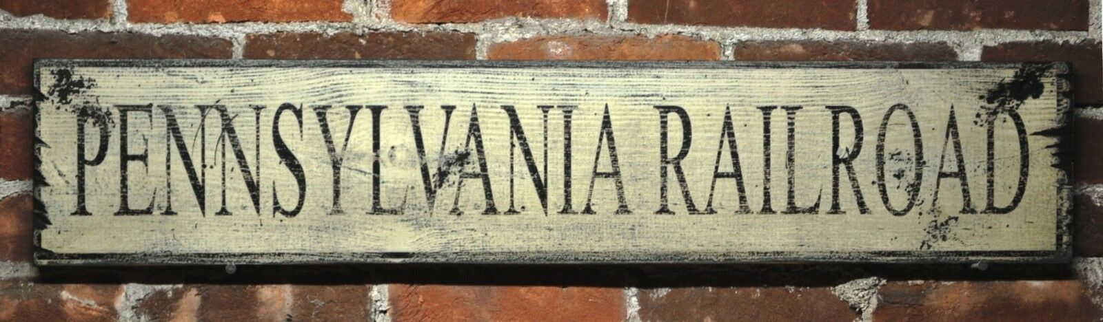Personalized State Railroad Wood Sign - Rustic Hand Made Vintage Wooden Sign