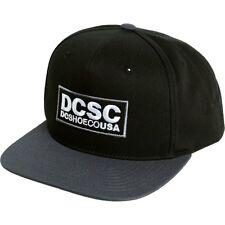 55e10f873b7 DC Shoes Robson Snapback Black Starter Adjustable Flat Bill Hat Ball Cap  New NWT