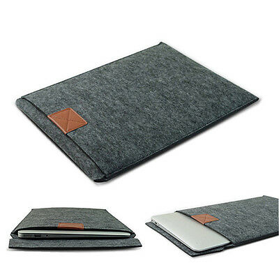 "Wool Felt Sleeve Bag Laptop Case Cover Pouch for Macbook Air Pro 13"" 13.3"" inch"