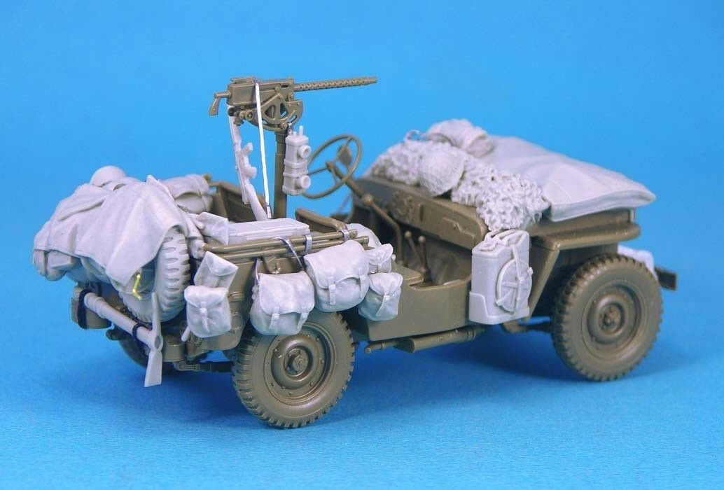 Legend 1 35 Jeep Willys MB Stowage Set for 2 Vehicles