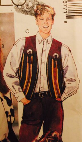 Mens or Misses Western Shirt or Vest Sew Pattern  UC ~ Yoke Piping ~ U PICK!