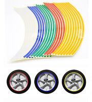 16 Stickers Réfléchissantes Adhésifs Autocollants Fluorescent Pour Moto Voiture
