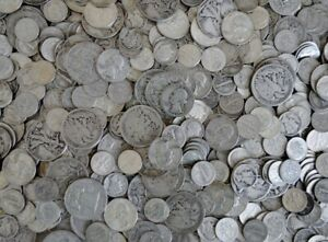 90-Junk-Silver-U-S-Coins-1-2-oz-Standard-Wt-Lot-All-Pre-1965